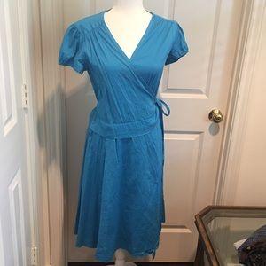 Calypso St. Barth medium blue wrap dress
